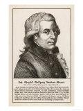 Wolfgang Amadeus Mozart the Austrian Composer Premium Giclee Print