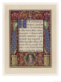 Illumination from an Italian Book of Hours Giclee Print