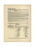 Constitution of the United States Premium Giclee Print