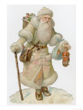 Santa in White Giclee Print