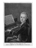 Wolfgang Amadeus Mozart the Austrian Composer at the Age of Eleven Seen at the Keyboard Giclee Print