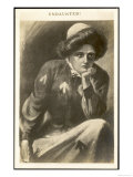 Undaunted, a Suffragette in Prison Uniform Contemplates Giclee Print
