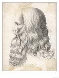 Leonardo Da Vinci Italian Artist: Self-Portrait in Profile Giclee Print