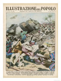 Battle Between the Ethiopians and the Forces of Italian Somaliland at Ualual Giclee Print