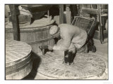Dressing a Millstone at a Water Mill at Ewell Surrey Giclee Print