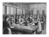 Girls Cutting and Packing at Bryant and May's Match Factory Giclee Print