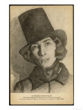 Georges Sand Alias Aurore Dudevant French Writer Dressed as a Man Giclee Print