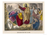 He Brings Lazarus the Brother of His Friends Martha and Mary Back to Life Giclée-Druck