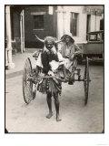 Horned Rickshaw Man in Bulawayo Southern Rhodesia Giclee Print