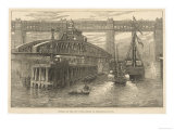 The Opening of the New Swing Bridge at Newcastle-On-Tyne on June 15th 1876 Reproduction procédé giclée