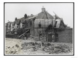 An End-Of-Terrace in Surrey Virtually Obliterated after a German Air Raid Giclee Print