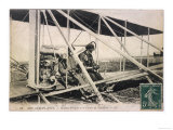 With the Comte de Lambert at the Controls of One of His Biplanes at a French Aviation Meeting Giclee Print