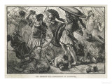 Macedonian and Theban Forces Under Philip of Macedon Defeat the Atheians at Chaeronea Giclee Print