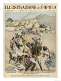 Armed Abyssinians Attack Italian-Controlled Village in Dankali Region and Steal Their Cattle Giclee Print