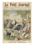 French Foreign Legion in Action in the Sud-Oranais Giclee Print