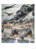 Malta: Italian Bombers Attack the Island Giclee Print