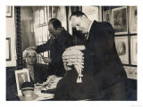 The Wigmakers' Firm Messrs. Ede and Ravenscroft Prepare a Wig to Fit a Woman Barrister Giclee Print
