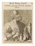 The Alchemist Geber Illustration from 'Science and Literature in the Middle Ages, Giclee Print