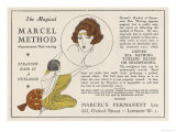 The Magical Marcel Method of Permanent Hair Waving Giclee Print