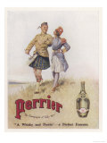 Perrier Water Goes Well with Whisky Reproduction giclée Premium