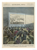 Natives of Italian-Occupied Areas Watch Italian Propaganda Films Giclee Print
