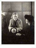 Woman Concentrates on Her Crystal Ball Which She is Reading for a Younger Woman Giclee Print