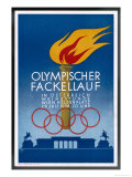 Postcard to Commemorate the Carrying of the Olympic Torch Through Vienna Reproduction procédé giclée