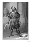 Ira Frederick Aldridge Playing the Part of Aaron in Shakespeare's Titus Andronicus, Giclee Print