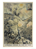 Major Raynal and His Batallion Lead the Heroic French Defence of Fort Vaux Giclee Print