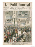 Edward VII at the Paris Opera During His State Visit to France Giclee Print