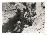 German Reserve Troops Waiting in the Trenches for the Call to Duty Giclee Print