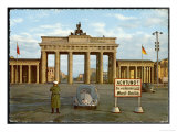 Berlin Divided: The Brandenburg Gate Stands Isolated Between East and West Berlin Giclee Print