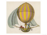 French Project for a Dirigible Balloon: by an Unidentified Inventor Lámina giclée