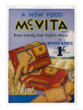 Mcvitie's Mcvita Wheat Biscuits Made Entirely from English Wheat at One Shilling a Packet Giclee Print