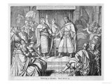 The French Empire Established by Charlemagne is Divided at the Treaty of Verdun Giclee Print