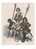 Swiss Soldiers in an Attitude of Prayer Giclee Print