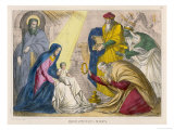 The Magi Present the Young Jesus with the Birthday Gifts They Have Brought Him Giclee Print