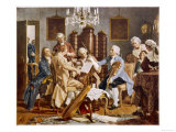 Haydn and Companions Perform a String Quartet at the Esterhazy Home Hungary Giclee Print