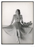Dress Showing the Flared Skirts That Came into Fashion from 1947 Giclee Print