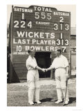 Herbert Sutcliffe and Percy Holmes Score a Record Opening Partnership of 555 Giclee Print