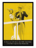 Wills's Gold Flake at Ascot, The Man's Cigarette That Women Like Giclee Print