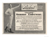An Advertisement for Porosknit Men's Summer Underwear Giclee Print