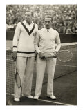 Fred Perry and Cochet Before Their Match Giclee Print