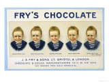 Fry's Five Boys Chocolate, Desperation Pacification Expectation Acclamation Realisation Giclee Print