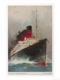 Cunard Passenger Liner on the Transatlantic Run Giclee Print