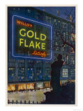 Wills's Gold Flake Cigarettes Satisfy Giclee Print