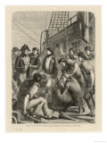 Seamen Complain About the State of Their Rations Prior to a Mutiny Aboard the Ship the Nore Giclee Print
