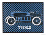 Pirelli Tyres, for Racing Cars Giclee Print