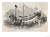 "The ""Key-Ing"" the First Chinese Junk to Visit Europe Docked in the Thames Giclee Print"