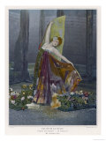 "Valentine Petit French Dancer as le Papillon in ""Visions Nocturnes"" at the Palais de la Danse Giclee Print"